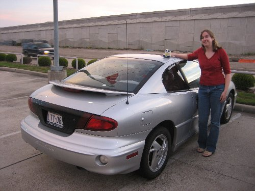 A good little 2000 silver Pontiac Sunfire GT, it served well from its 90th